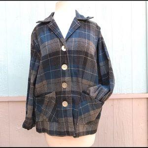 Vintage Hepburn Tomboy wool plaid Pendleton jacket